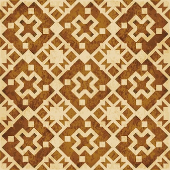 Brązowa akwarela tekstury, wzór, kalejdoskop geometrii kwadratu