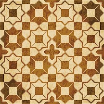 Brązowa akwarela tekstury, wzór, kwadrat geometrii gwiazdy krzyż