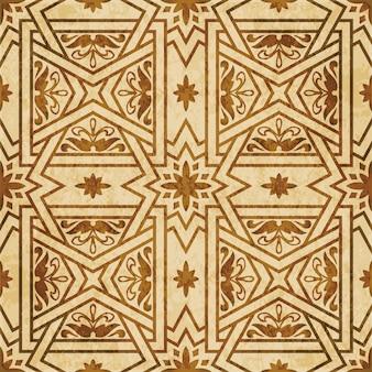 Brązowa akwarela tekstury, wzór, poprzeczka kwadratowa gwiazda kwiat ogród