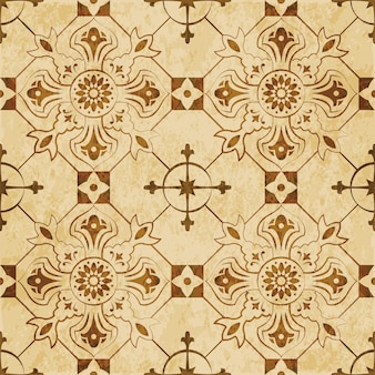Brązowa akwarela tekstury, wzór, sprawdź okrągły kwiat krzyż