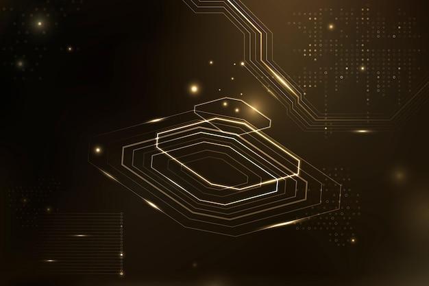 Brązowa, futurystyczna technologia destrukcyjna danych w tle mikrochipów