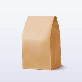 Brązowa papierowa torba. ilustracja