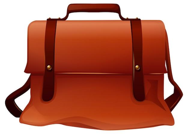 Brązowa skórzana torba z dwoma paskami