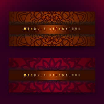 Brązowe i fioletowe tło mandali