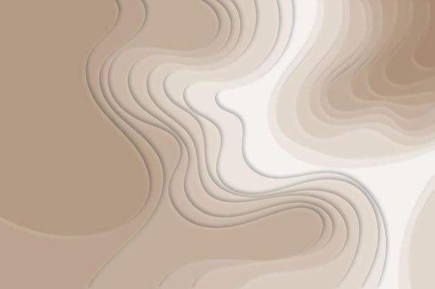 Brązowe tło mapy topograficznej