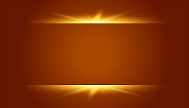 Brązowe tło ze świecącym efektem świetlnym