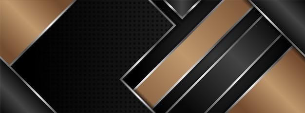 Brązowo-czarne tło poziome z trójkątem i ukośną krzywą.