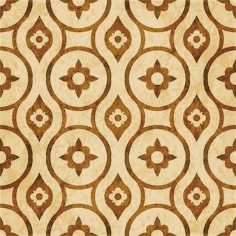 Brązowy akwarela tekstury, wzór, okrągły kwiat krzyża geometrii