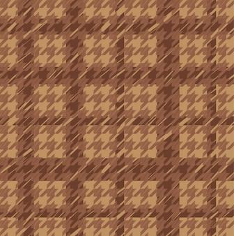 Brązowy houndstooth bez szwu wzór