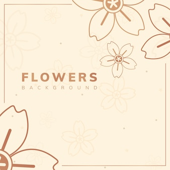 Brązowy kwiatowy rama