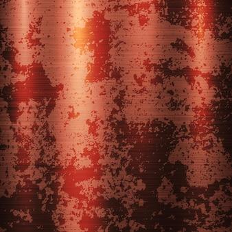 Brązowy miedziany metalowy rdza tło z polerowaną szczotkowaną teksturą