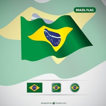 Brazylia darmowe flaga wektorowe