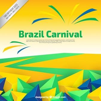 Brazylia karnawał tło z wielokątów