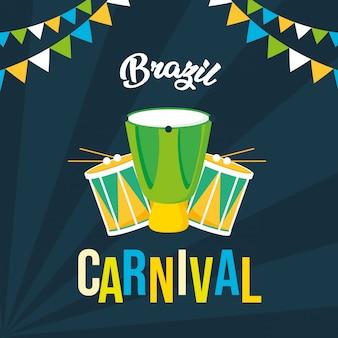 Brazylia karnawałowe tło festiwalu