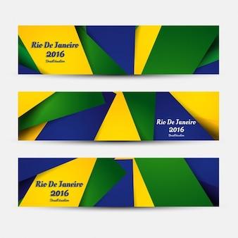 Brazylia kolorowe banery