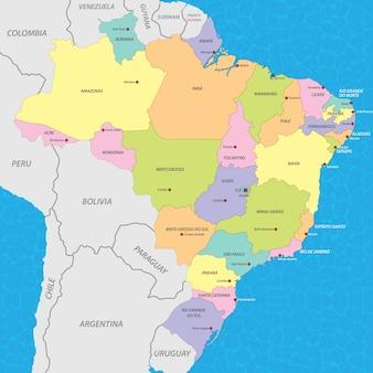 Brazylia mapa wektor
