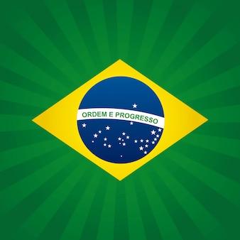 Brazylia projektuje nad zielonym lampasa tłem