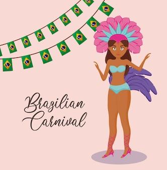 Brazylijska postać tancerki