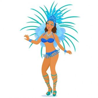 Brazylijska tancerka samby