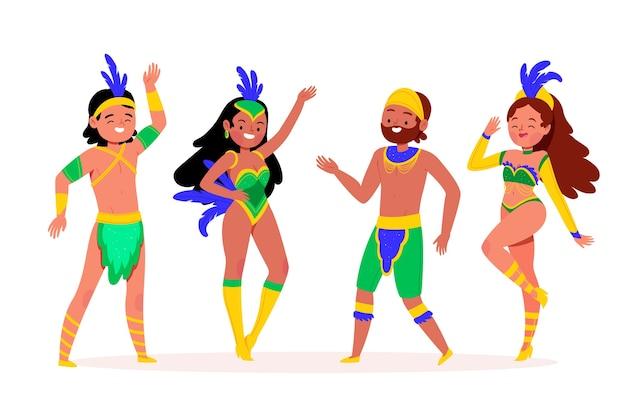 Brazylijski karnawał tańczący i dobrze się bawiący