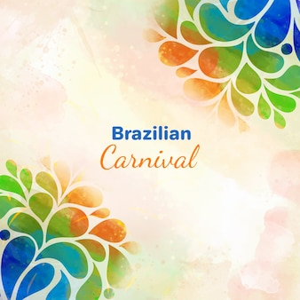Brazylijski karnawał tło akwarela