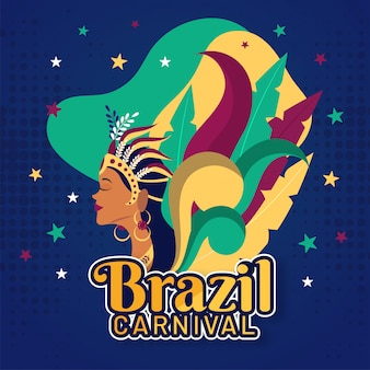 Brazylijski karnawał tło.