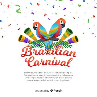 Brazylijski karnawał tło