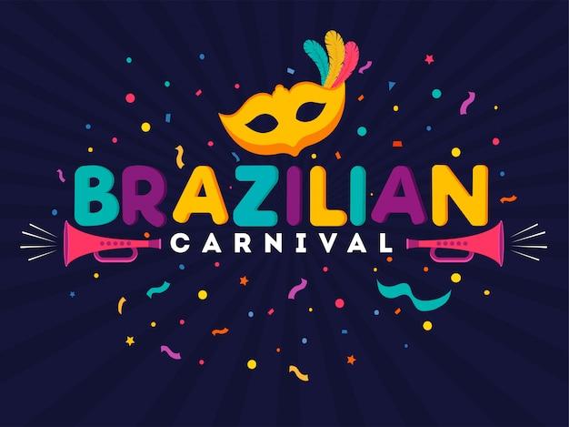 Brazylijski karnawał w tle.