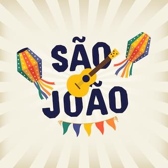 Brazylijski tradycyjny festa junina festa de sao joao.