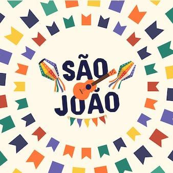 Brazylijskie tradycyjne święto festa junina. festa de sao joao.