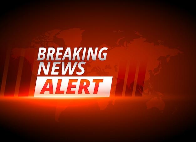 Breaking news alert tło w czerwonym motywem