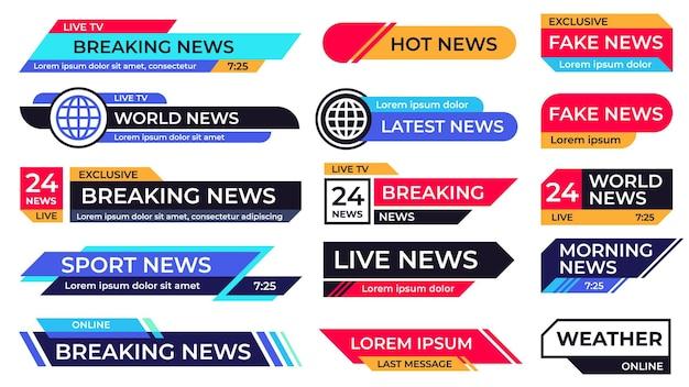 Breaking News Banner. Premium Wektorów