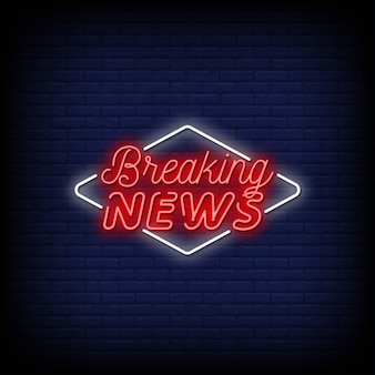 Breaking news neon signs
