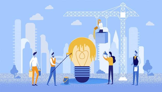 Bright flyer kreatywne zarządzanie pomysłami na barwienie.