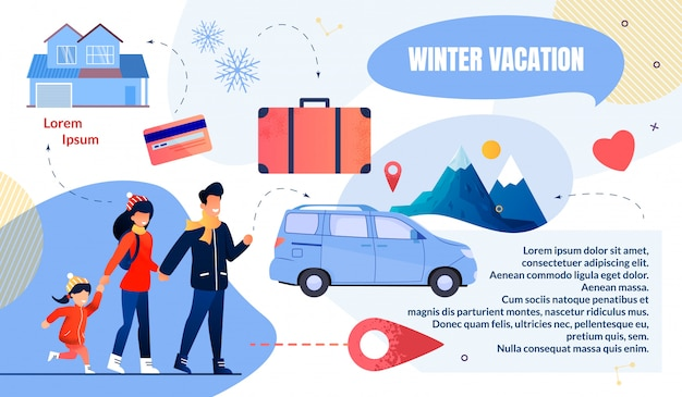 Bright flyer to napisane zimowe wakacje
