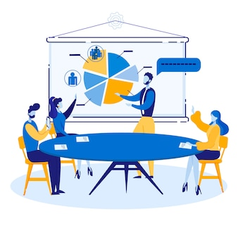 Bright marketing communications marketing cartoon.