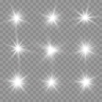 Bright star świecące słońce jasny zestaw lampy błyskowej