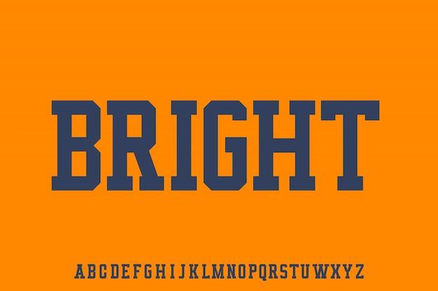 Bright, zestaw czcionek sporty varsity