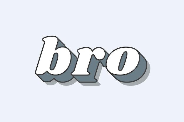 Bro słowo pogrubiona typografia
