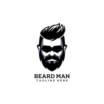 Broda mężczyzna hipster włosy brodaty ludzie styl życia fryzjer