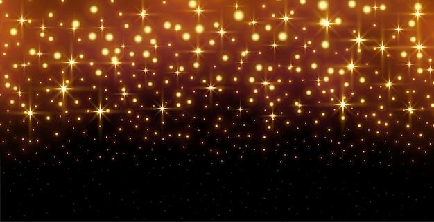 Brokat błyszczy złotym tłem z efektem świetlnym