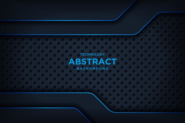 Brokat streszczenie metaliczny czarny niebieski niebieski układ nowoczesnej technologii brokat