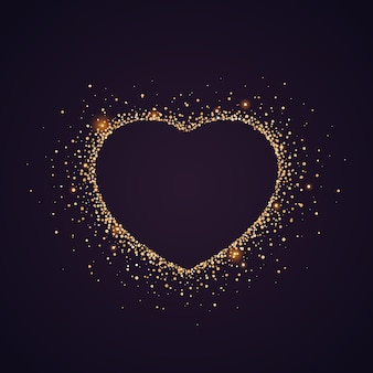 Brokat w kształcie serca. walentynki tło