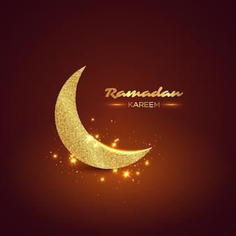 Brokatowy wzór ramadan kareem.