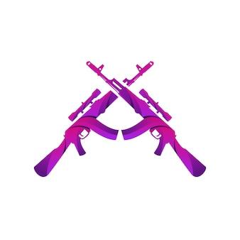 Broń ak47 kolorowy gradientowy wzór