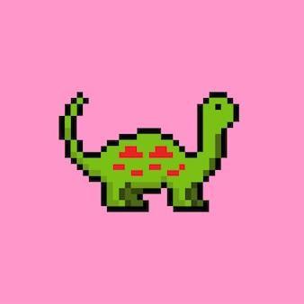 Brontozaur w stylu pixel art