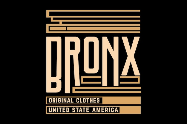 Bronx oryginalny projekt typografii ubrań