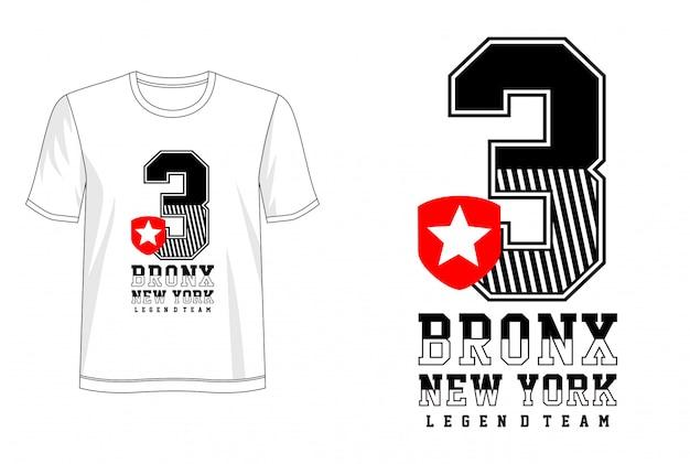 Bronx typografia do koszulki z nadrukiem