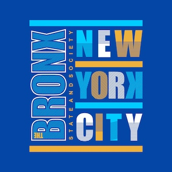 Bronx typografii t koszula projekt