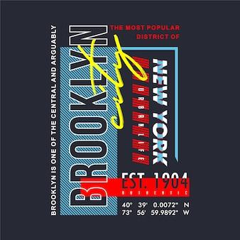 Brooklyn graficzny typografii projekt koszulki odzieży